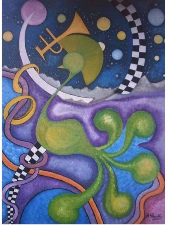 Lunare - Painting,  75x55 cm ©2005 by Angelo Pisciotta -