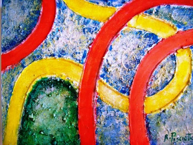 Astratto 24 - Painting,  40x30 cm ©2011 by Angelo Pisciotta -                            Abstract Art, Astratto materico, tecnica mista.