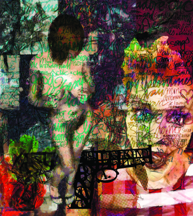 Free spot violence - Digital Arts,  30.7x27.6x0.2 in ©2013 by Antonio Angelo Lori -                                                                                                                    Cubism, Dada, Abstract Expressionism, Contemporary painting, Abstract Art, Cities, Women, Portraits, arte, mixmedia, expressionism, figurative, pop art, acrylic, contemporary art, paintings