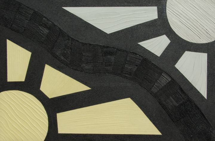 Soles - Painting,  80x120x4 cm ©2019 by Arte Luny -                                                                                    Art Nouveau, Abstract Art, Wood, Abstract Art, Science-fiction, Abstracto, Sol, Negro, Acrílico, Moderno