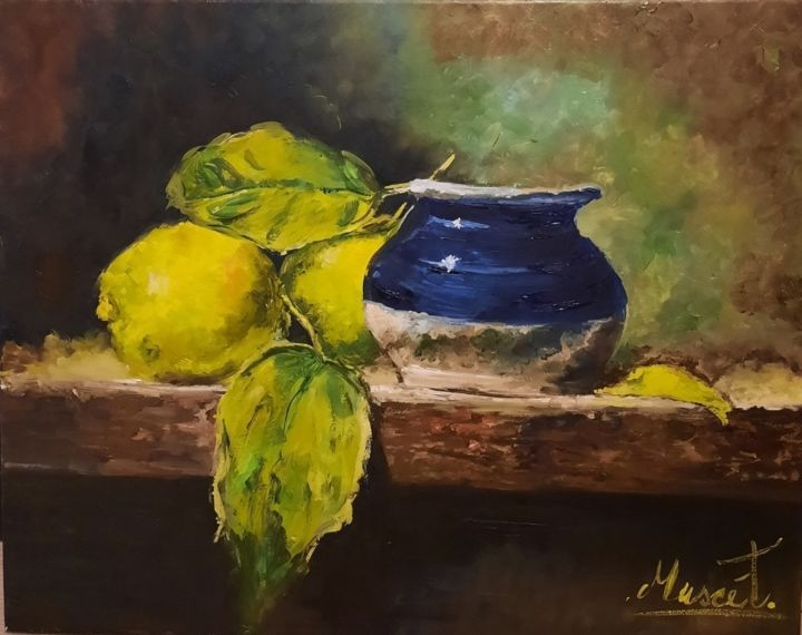 """Painting titled """"Antico riflesso"""" by Antonia Calianno (Muscèt), Original Art, Oil"""