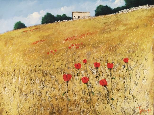 Campo - Painting,  70x60 cm ©2011 by Luigi Torre -