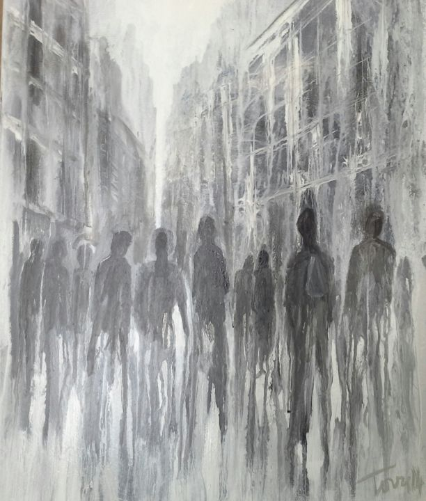 andare - Painting,  60x50 cm ©2014 by Luigi Torre -            People