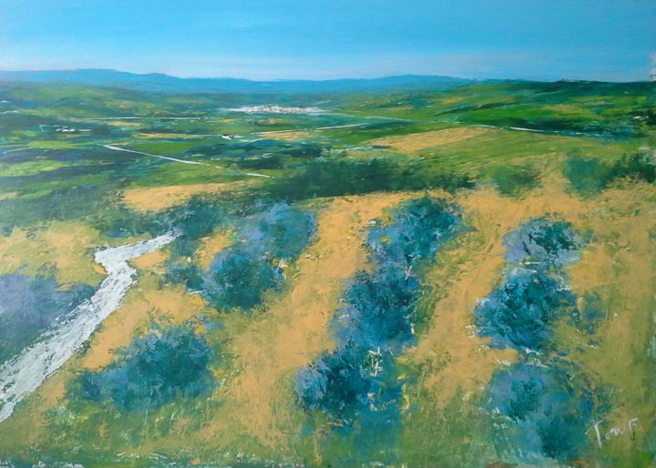 orizzonte - Painting,  50x70 cm ©2015 by Luigi Torre -