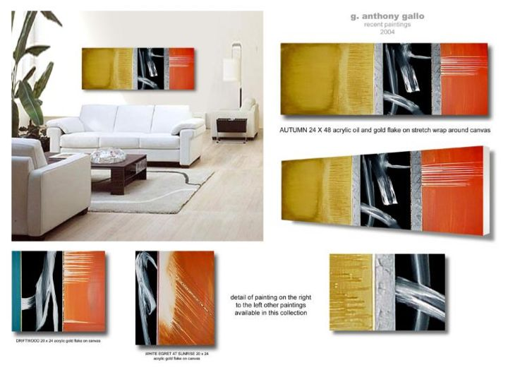 Autumn Room Presentation by Gregory Gallo Painting by