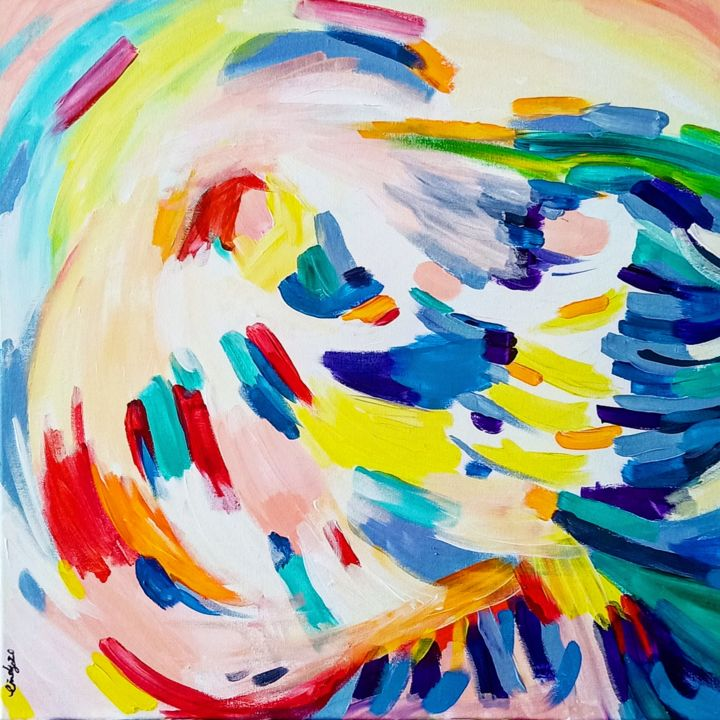 """Painting titled """"God is Never Late"""" by Cindy Soh, Original Art, Acrylic"""