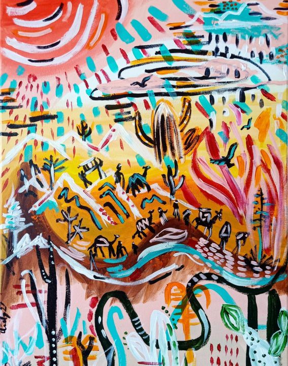 """Painting titled """"The Wilderness"""" by Cindy Soh, Original Art, Acrylic"""