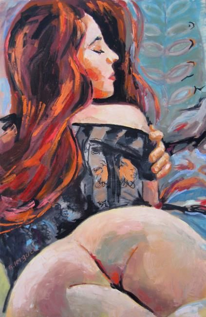 Share your Oil painting nude redhead