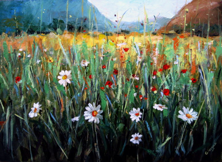 Field of flowers photo color original painting beautiful field of flowers photo color original painting beautiful artmajeur contemporary izmirmasajfo