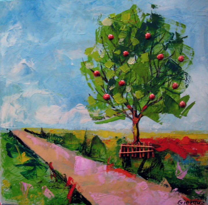 In Praise Tree - Fruit, Apples, Photo, Color, Painting, Beautiful ...