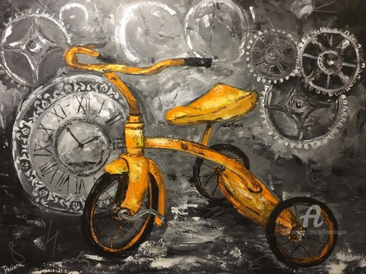 """Painting titled """"Simpler times"""" by Daciana, Original Art, Acrylic"""