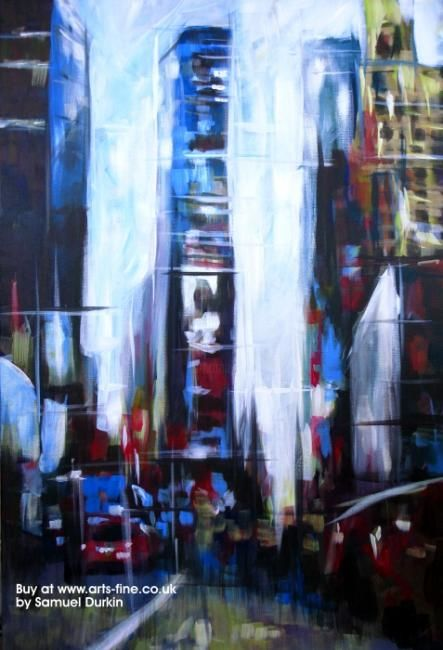 """Painting titled """"Times Square New Yo…"""" by Samuel Durkin, Original Art, Oil"""