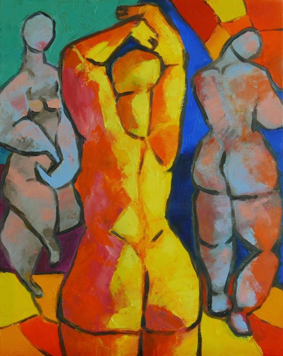 Nude woman paint 9