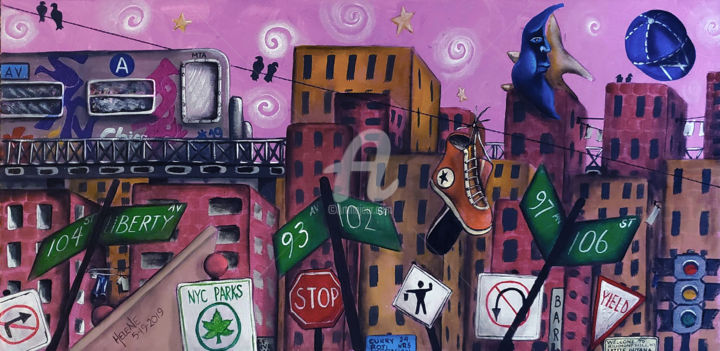 """Painting titled """"Richmond Hill Queen…"""" by Helene, Original Art, Acrylic"""