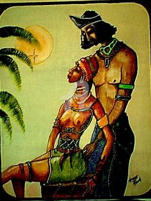 African King And Queen Painting By Helene Ruiz Artmajeur