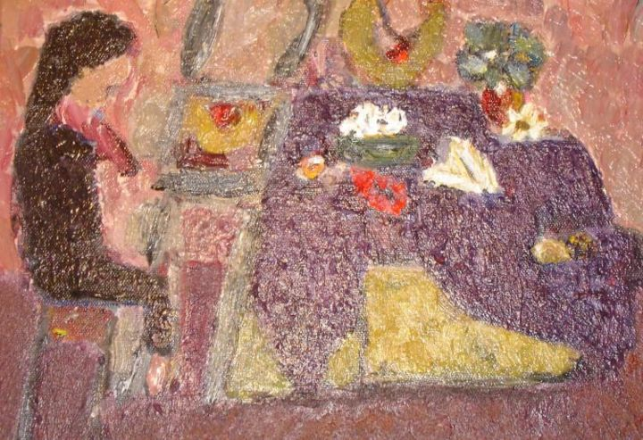 """Painting titled """"The Girl that moved…"""" by Joseph Marguccio, Original Art,"""