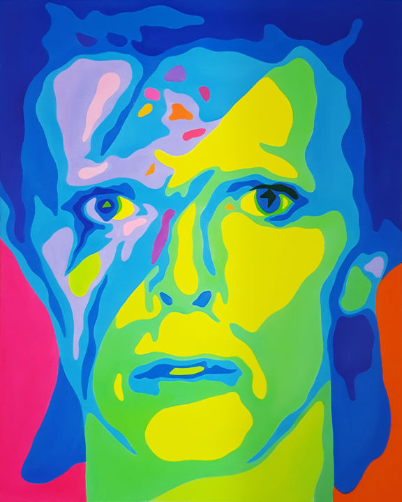 """Painting titled """"David Bowie"""" by Jiyoung Kim, Original Art,"""