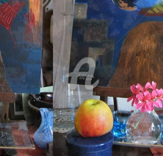 Still Life 24 - Painting,  20.1x20.9 in, ©2007 by Artingrid -