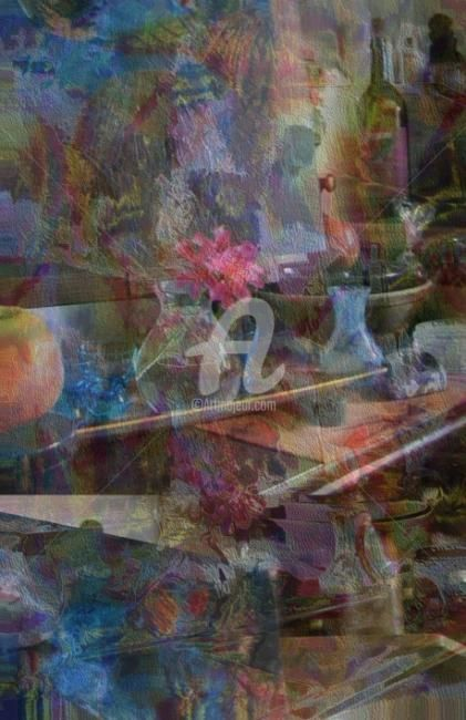 Still Life - Painting,  30.7x29.1 in, ©2007 by Artingrid -