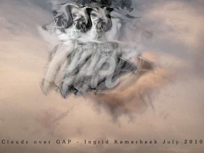 Clouds over GAP - Mixed Media,  60x80 cm ©2010 by Artingrid -            mixed_media by Ingrid Kamerbeek, WEBISM