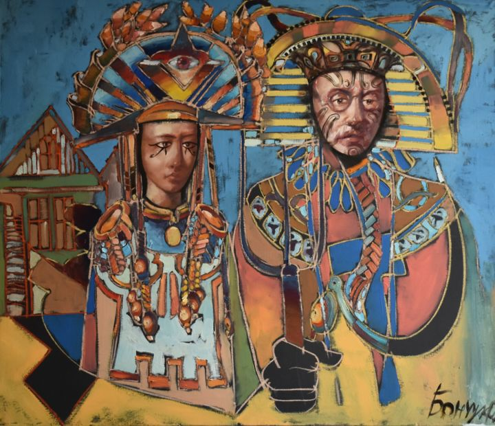 """Painting titled """"Last Rulers of the…"""" by Roman Bonchuk, Original Art, Acrylic"""