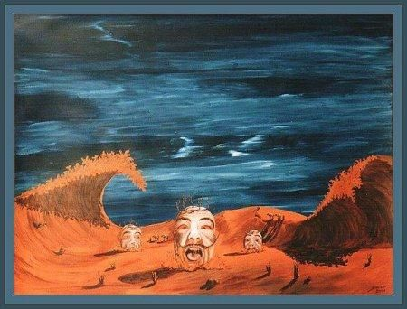 Screaming sands - Painting ©2001 by David Blair -