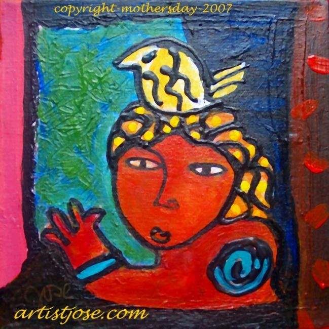 """Painting titled """"mothersday 2007"""" by Artistjose, Original Art,"""