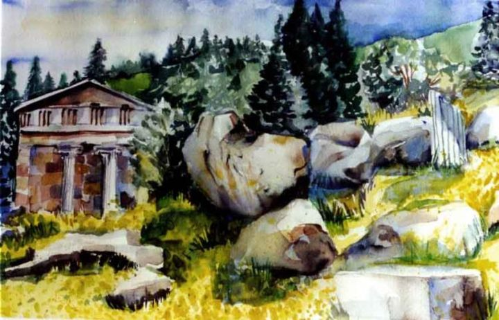 """Painting titled """"Delphi"""" by Newman Mindy, Original Art, Oil"""