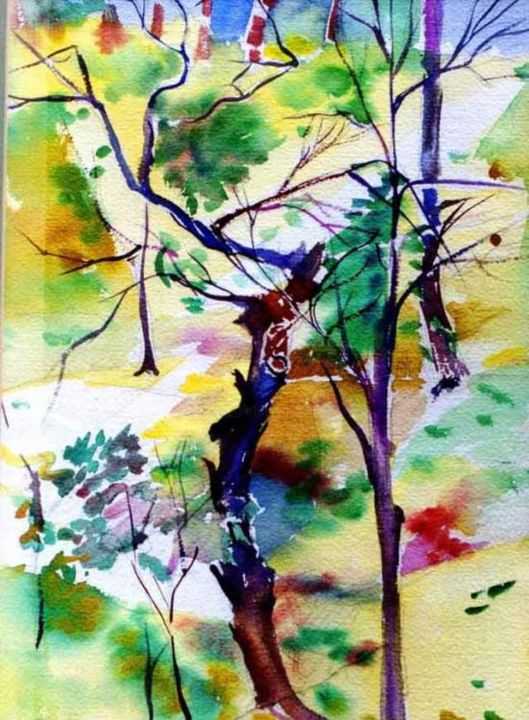 """Painting titled """"A Tree for a Thousa…"""" by Newman Mindy, Original Art, Oil"""