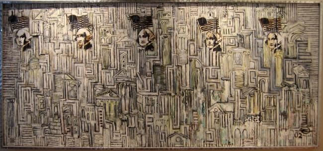 """Painting titled """"Where's Waldo"""" by Mark Nelson, Original Art,"""