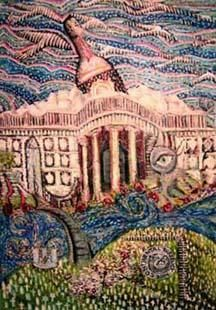 """Painting titled """"Continental Currency"""" by Mark Nelson, Original Art,"""