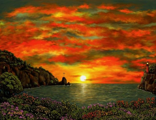 """Painting titled """"Jim Hurley Sunrise"""" by Ave Cosgriff Hurley, Original Art, Other"""