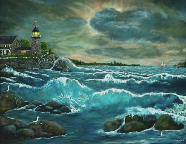 """Painting titled """"Evening at Lillian'…"""" by Ave Cosgriff Hurley, Original Art, Oil"""