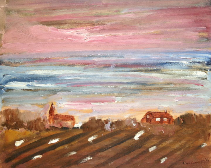 """Painting titled """"sky-over-village-at…"""" by Artroger, Original Art,"""