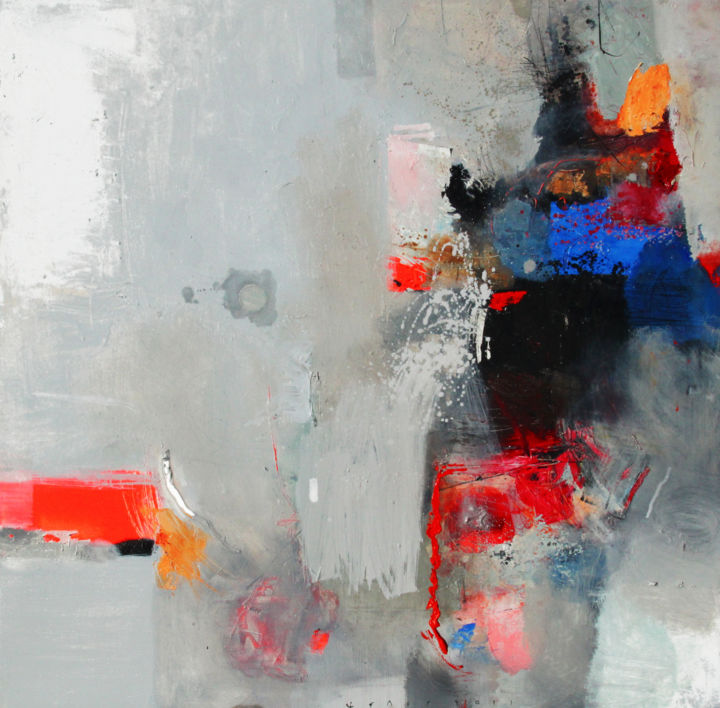 color therapy 2 - Painting,  39.4x39.4x1 in, ©2011 by Viktor Sheleg -                                                                                                                                                                          Abstract, abstract-570, Interiors