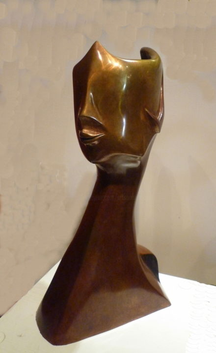 INCOGNITO  Bronze 2/8 - © 2014 sonia mandel, sculpture, stylisé, contemporaine, femme, mystère, incognito, interrogation, vue, reconnaissance, bronze, , voyage, plaidoyer pour artistes vivants, style MANDEĹART, visa, french touch, fine art Online Artworks