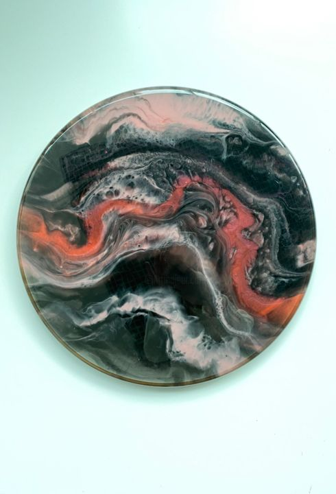 """Painting titled """"My Flame"""" by Yulia Palij, Original Art, Resin"""