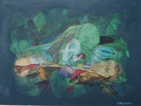 Ibrahim Hussein-Teem - Painting,  36x48 in ©1978 by Art Malaysian Paintings Sold -