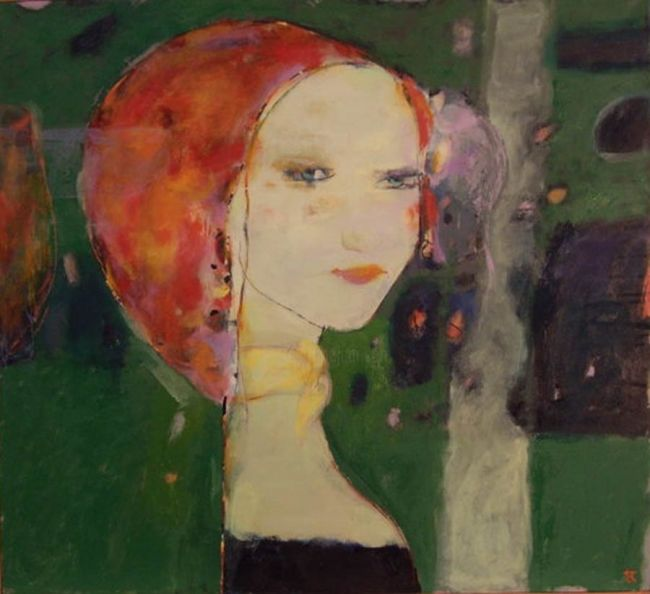 """Painting titled """"MARGO"""" by Arturs Akopjans, Original Art,"""