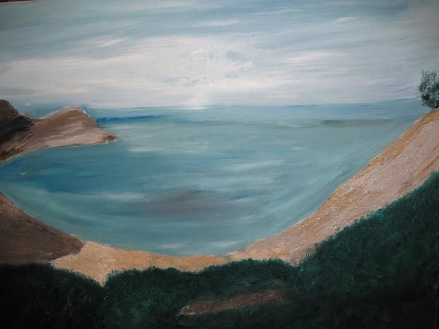 Aquatic dream - Painting,  51x41 cm ©2009 by Coreta Odje -                            Canvas, seascape