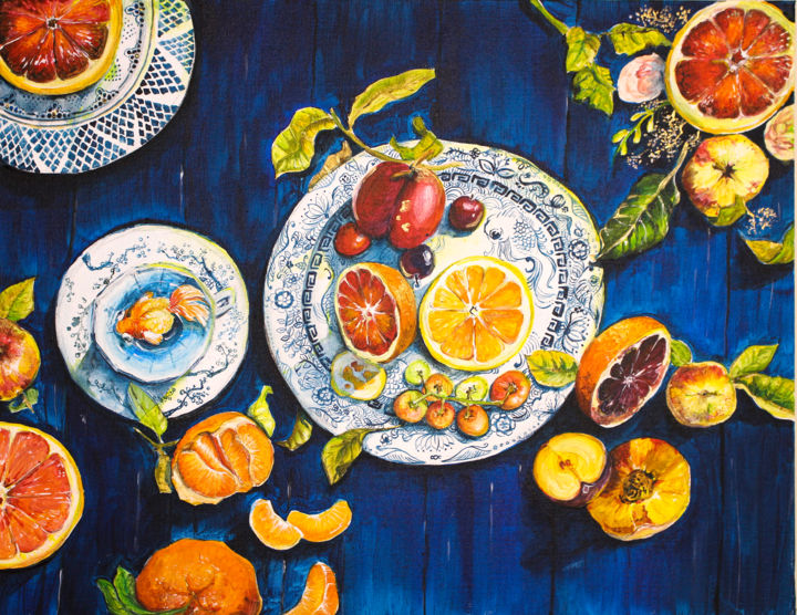 """Painting titled """"Fruitful"""" by Arty Guava, Original Art, Acrylic"""