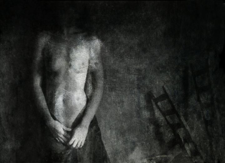 NULLE PART........... - Photography, ©2017 by Philippe Berthier -                                                                                                                                                                                                                                                                                                                                              Other, Nude, corps, femme, obscur, Limited Edition, Black and White
