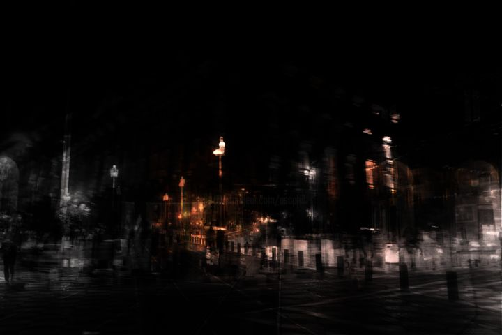 Errance à Nice - Photography, ©2018 by Philippe Berthier -                                                                                                                                                                                                                                                                                                                                                                                                              Abstract, abstract-570, Aluminum, Cityscape, Cities, mouvement, urbain, Limited Edition