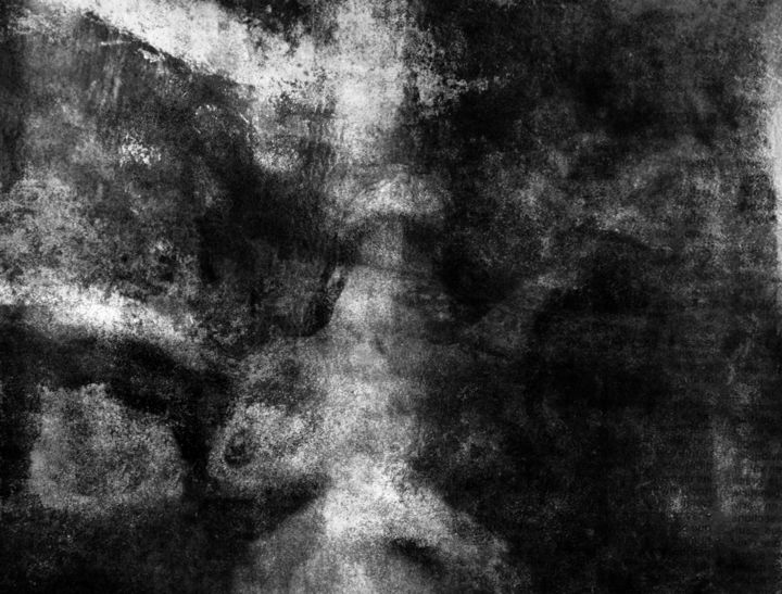 Inspiration - Photography, ©2017 by Philippe Berthier -                                                                                                                                                                                                                                                                                                                                                                                                                                                                                                                                                                                              Expressionism, expressionism-591, Other, Body, Women, Black and White, Nude, manipulation, obscur, créatif, Limited Edition, Black and White