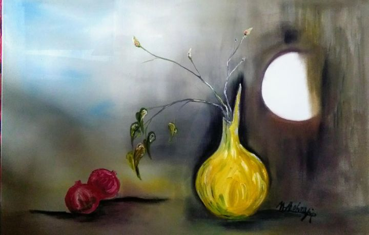 """Painting titled """"The Voice of Life"""" by Mansoureh Ashrafi, Original Art, Oil"""
