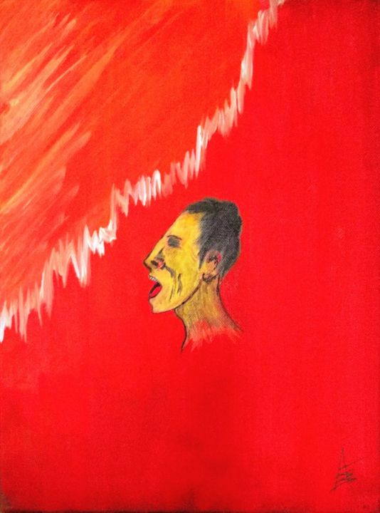 """Painting titled """"Sine Pace"""" by Askew Mind, Original Art, Acrylic"""