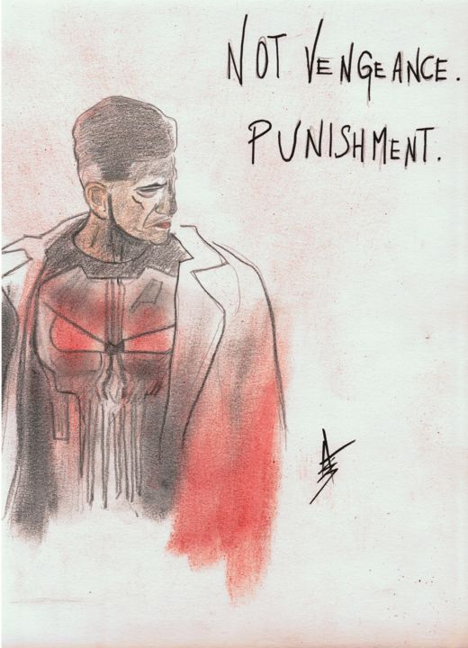 """Drawing titled """"Not Vengeance"""" by Askew Mind, Original Art, Pencil"""