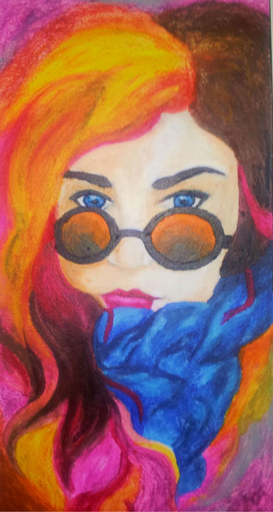"""Drawing titled """"Woman"""" by Ashley Spencer, Original Art, Other"""
