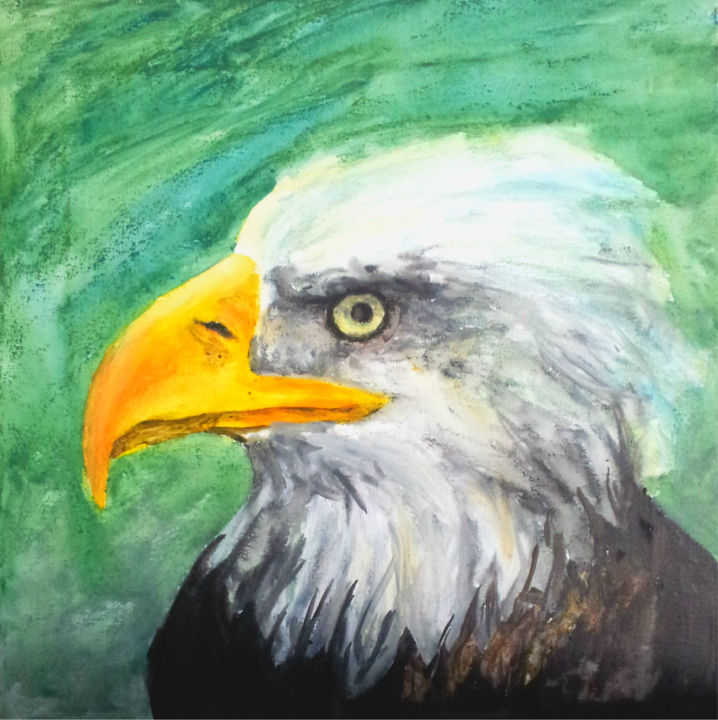 """Drawing titled """"Eagle"""" by Ashley Spencer, Original Art, Other"""