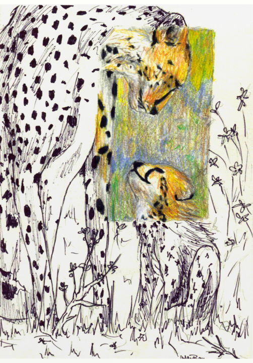 """Drawing titled """"Mother and Child Ch…"""" by Ashley Spencer, Original Art,"""